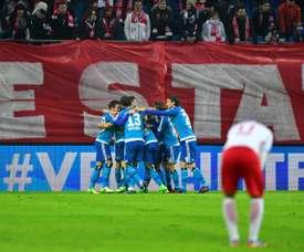 El Hamburgo doblegó con dificultades al Hertha en el Volksparkstadion. AFP