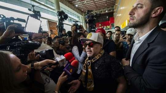 La aventura mexicana de Maradona pudo haber comenzado hace una década. AFP/Archivo