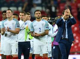 England came from behind to beat Slovakia 2-1. AFP