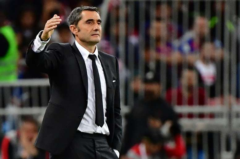 Valverde's agent in Barcelona before his imminent departure. AFP