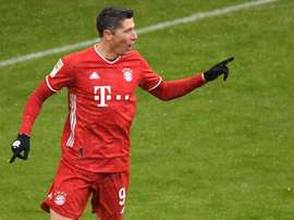 Robert Lewandowski scored as Bayern beat Freiburg 2-1. AFP