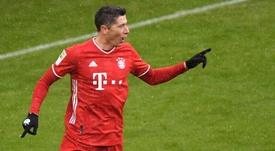 Lewandowski claims Bundesliga record, Jovic hits double on return from Real Madrid. AFP