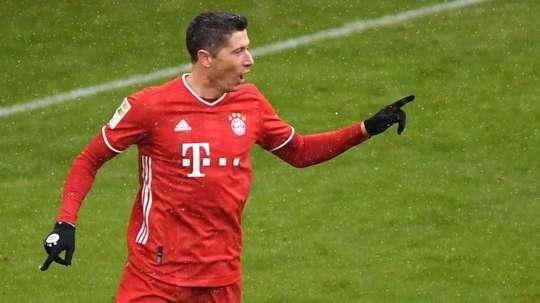 Lewandowski décroche un nouveau record en Bundesliga. AFP