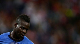 Balotelli happy to be back home in Brescia. AFP