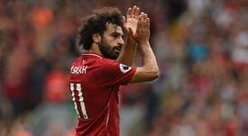 Salah is up and running. AFP