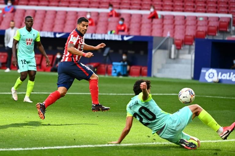 Suárez, en su debut con el Atlético de Madrid