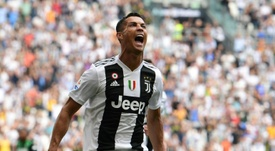 Ronaldo celebrates the first. AFP