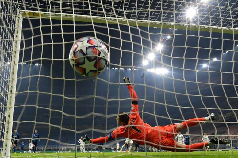 Real Madrids Eden Hazard scored an early penalty past Inter Milans Samir Handanovic. AFP