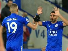 Vuelta a la senda del triunfo del Leicester. AFP