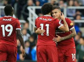 Coutinho et Salah ont réalisé une véritable performance contre Maribor. AFP