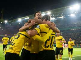 Dortmund won it late. AFP