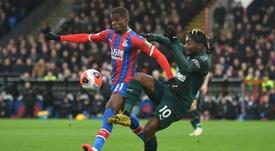 O Newcastle prepara uma suculenta oferta por Zaha. AFP