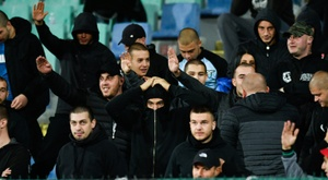Bulgaria have received a punishment after racist abuse in England game. AFP