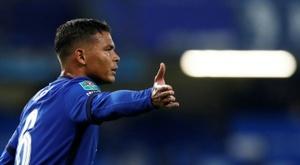 Lampard encourage Thiago Silva. AFP