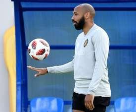 Thierry Henry se desmarcó de los rumores que lo sitúan al frente de Egipto. AFP