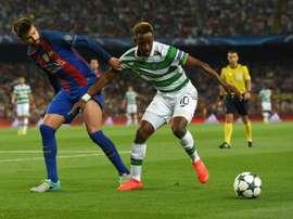 Dembélé quiere hacer un buen partido ante el Barcelona. AFP