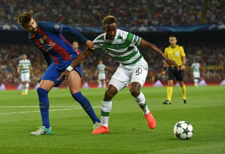 Dembele volvió a ver puerta con el Celtic, en esta ocasión por partida doble. EFE