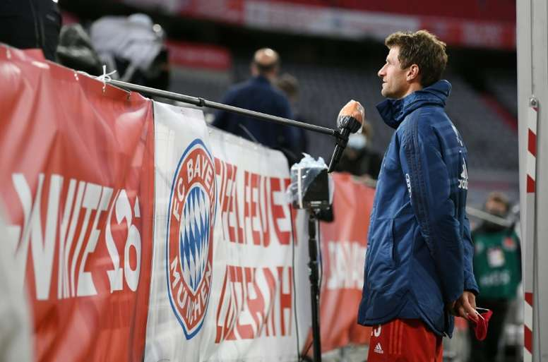 Thomas Muller is expecting a cracking game on Tuesday between Dortmund and Bayern. AFP