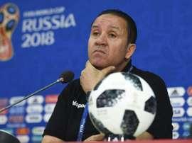 El seleccionador tunecino analizó la victoria ante Panamá. AFP