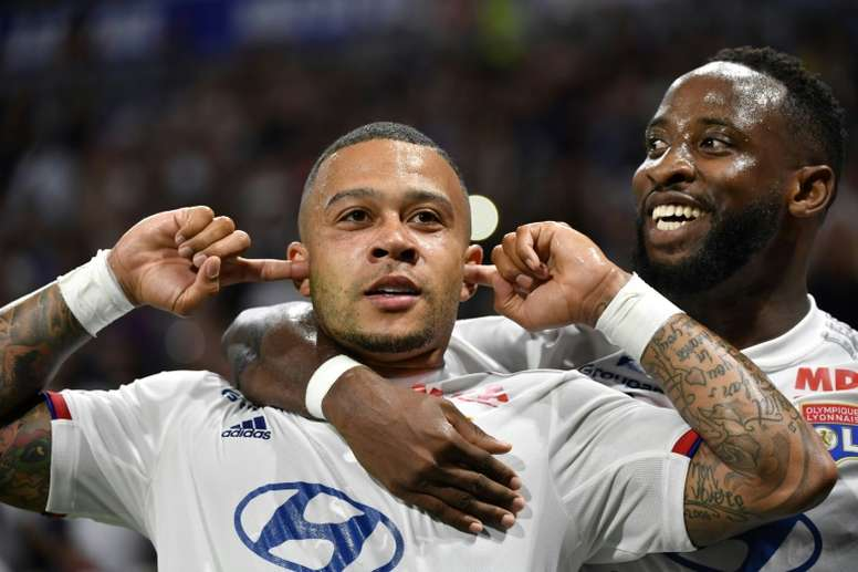 Memphis Depay and Moussa Dembele have both been linked with LaLiga. AFP