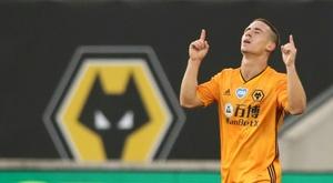 Podence hizo el primero para unos Wolves que acabarán ante el Chelsea. AFP