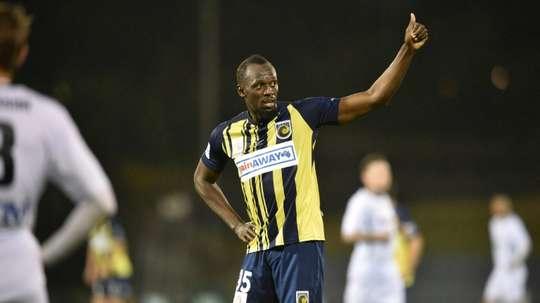 Bolt ya lleva varios goles. AFP