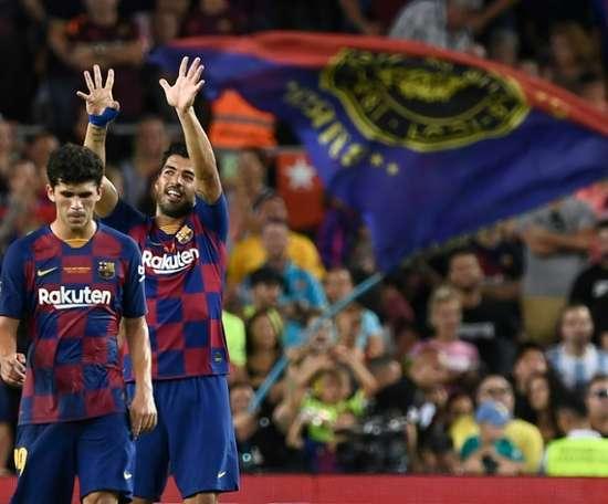 Discurso do Rei e gol de Suárez. AFP