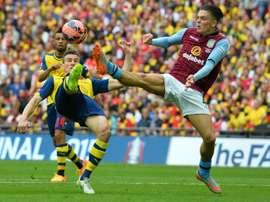 Jack Grealish a de fortes chances de quitter Villa. AFP