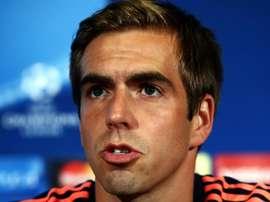O capitão dos bávaros recebeu conselhos de Ancelotti. AFP