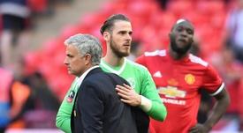 Mourinho criticized De Gea's contract again. AFP