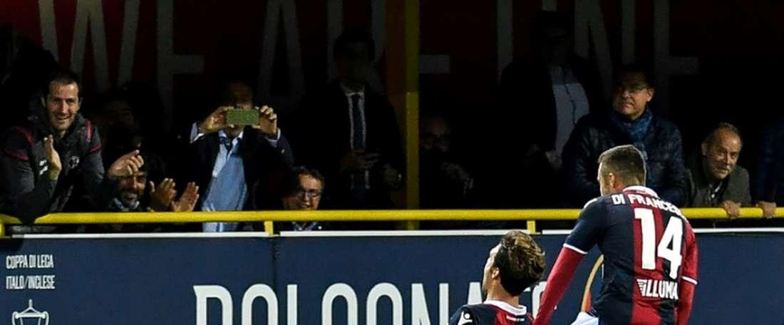 Bologna ganhou três pontos com mais um jogador. EFE