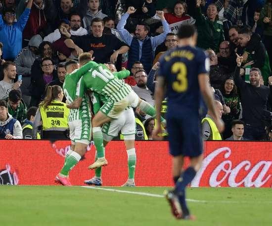 Le but qui pourrait avoir offert la Liga au Barça. AFP
