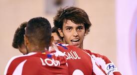 Joao Félix sufrió hasta cuatro entradas ante el Getafe. AFP