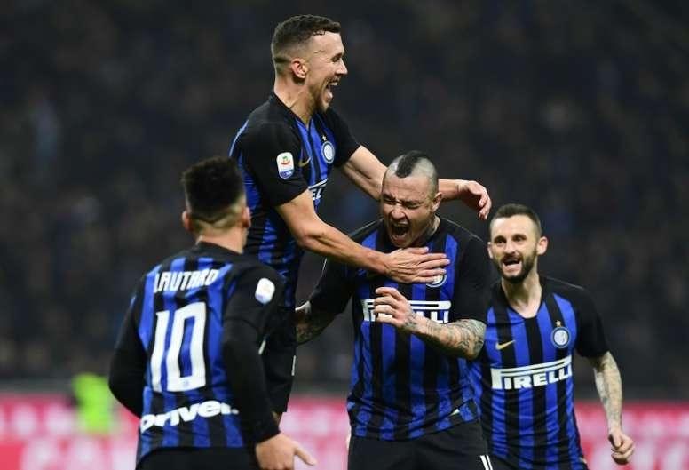 El Inter venció a la Sampdoria sin Icardi. EFE/EPA