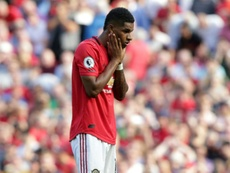 Solskjaer criticised the racist abuse Rashford got after missing penalty. AFP