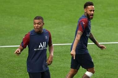 Mbappé could face Atalanta. AFP