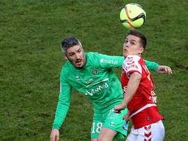 Nicolas De Preville a été prêté à Lille par le club d'Ostende. AFP