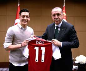 Mesut Ozil was criticised in May 2018 for meeting Turkish President Erdogan. AFP