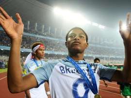 Le Soulier d'Or du dernier mondial U17, Rhian Brewster. AFP/Archives