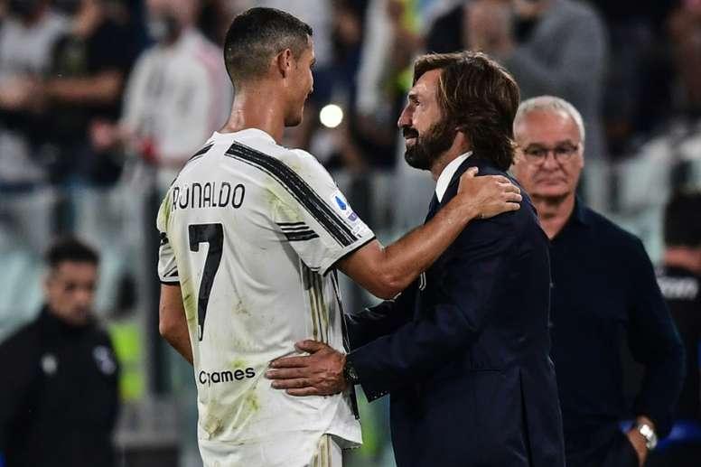 Pirlo aguarda teste para saber se poderá contar com Cristiano. AFP