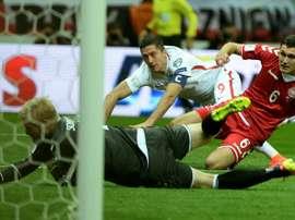 Lewandowski es el 'pichichi' de Europa en la Clasificación al Mundial. AFP