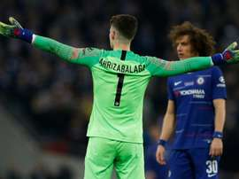 Sarri wanted to sub the keeper during extra-time. AFP