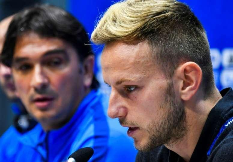 Rakitic a joué malgré une nuit agitée. AFP