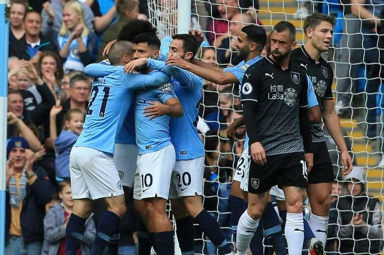 Les compos probables du match de Premier League entre Burnley et Man City. AFP