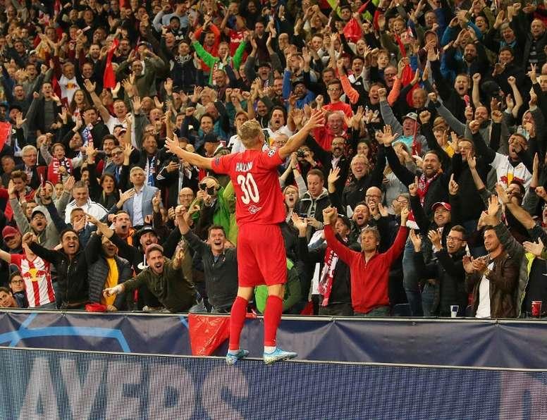 Haaland quer seguir sua carreira na Alemanha. AFP