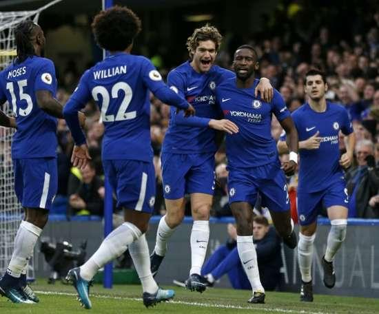 O Chelsea bateu o Stoke por 5-0. AFP