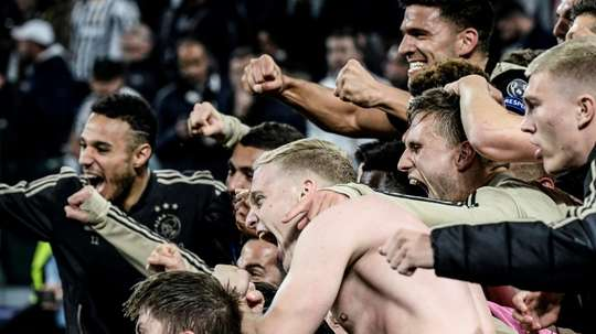 Ajax are through to the Champions League Semi-Finals with victory over Juventus. AFP