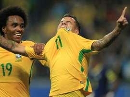 Coutinho scored Brazil's second. AFP