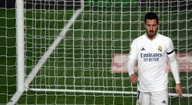 Hazard, lesionado ante el Alavés. AFP