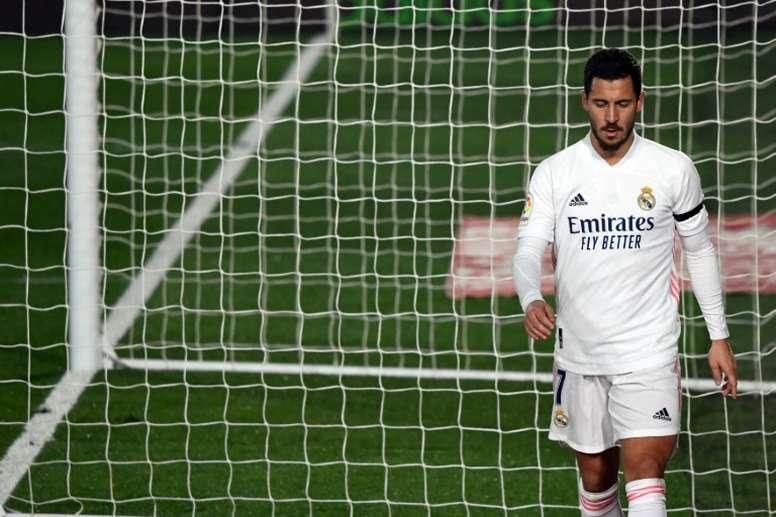 Eden Hazard has picked up a thigh injury. AFP
